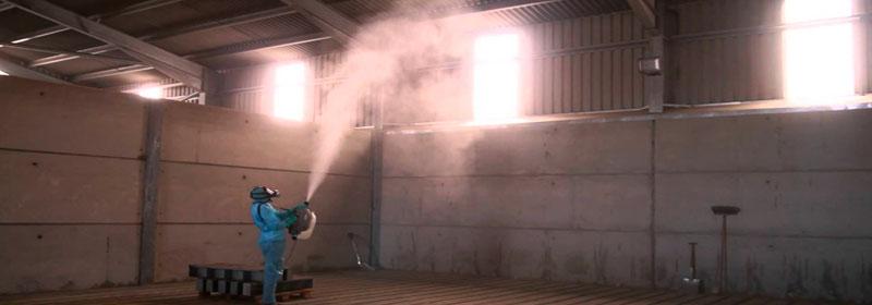 Работа генератора холодного тумана