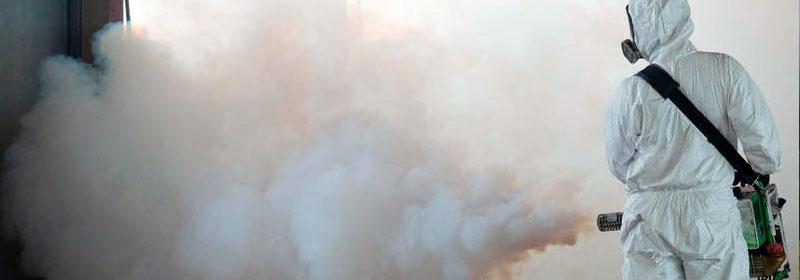 Работа генератора горячего тумана