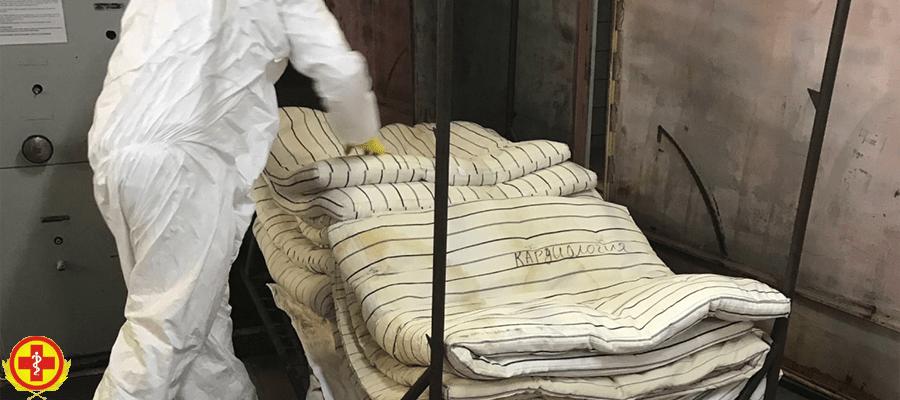 Дезинфекционная камерная обработка постельных принадлежностей